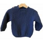 """Sweater  """"bleu comme le blé"""""""
